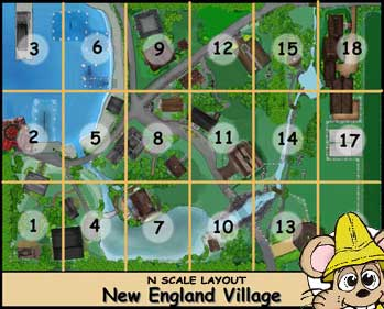 New England Village Layout sheet