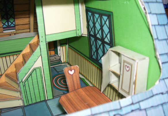 Clockmakers Cozy downloadable Story Book Dolls House downstairs