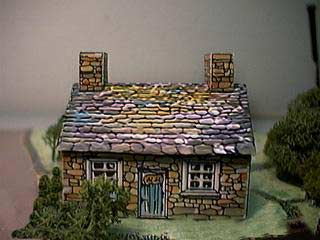 paper model of the Country Stone Cottage