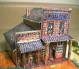 Western General Store paper model