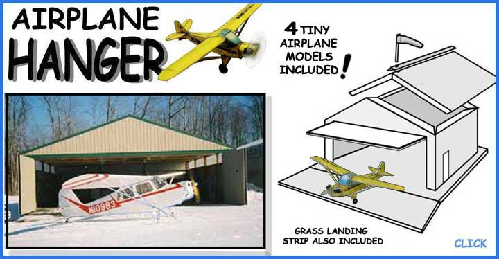 Aircraft Hanger paper model