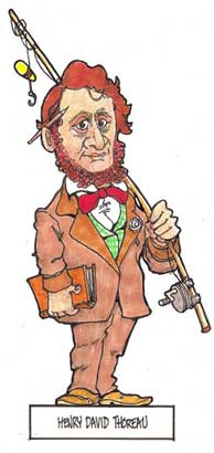 Henry Thoreau paper doll