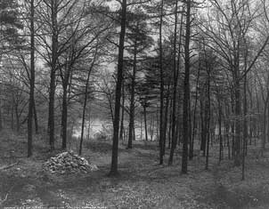 Walden pond site in 1909