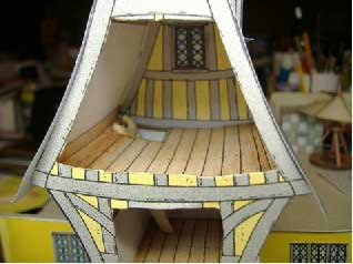 top floor of the story book house with ladder