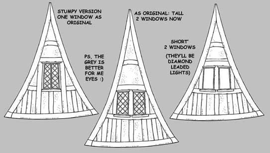 Window varialtions of the Story Book House- Hunters Haven