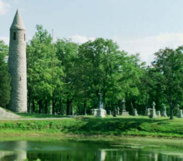 This Irish Round Tower actually lives in Milford Massachusetts