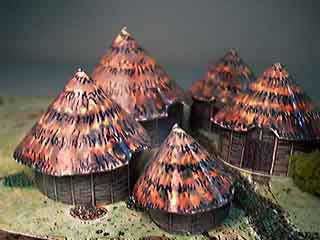 Iron Age Village paper models