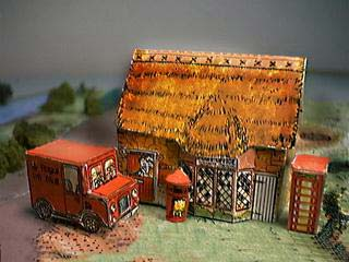English Post Office paper model