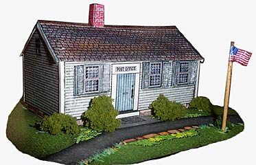 Greenfield Village Post Office paper model house