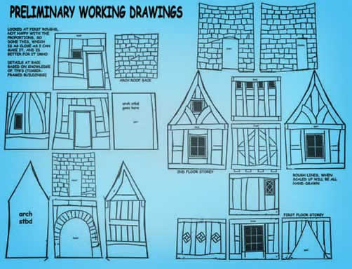 WOrking vDrawing of Story Book House