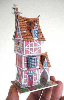 Robert's Roost paper model story book house