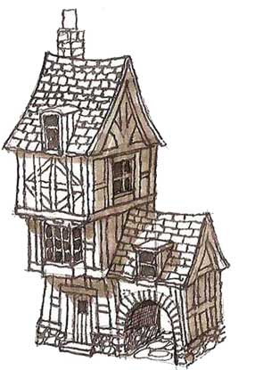 Concept sketch of Story Book House