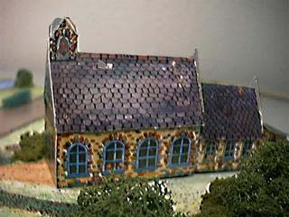New England School House paper model