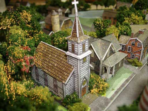paper model of Village Church