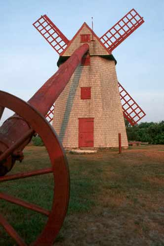 Nantucket Island's restored old mill windmill Fiddlersgreen.net