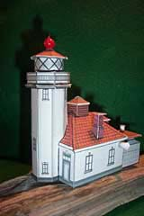 Alki Point Lighthouse paper model