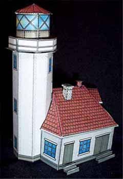 Cape Arago Light House FG paper model