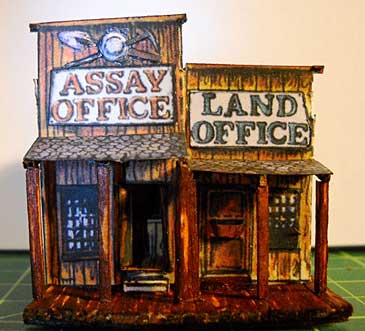 Assay and Land Office paper model