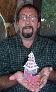 Old Auburn Fire House paper model