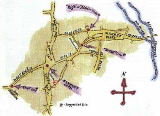 Map to the Banbury Cross