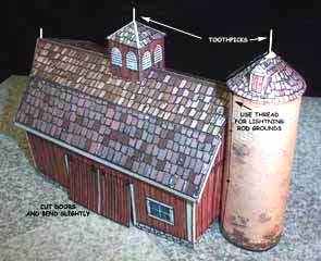 New England Farm Barn paper model
