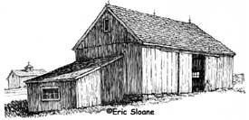 New England Barn sketch