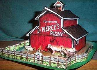New England Barn - paper model