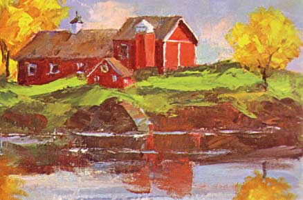 New England Farm Barns in Fall