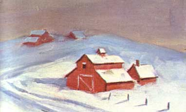 New England Barns in winter