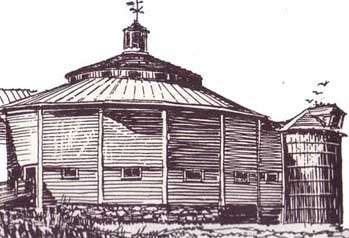 Octogonal Wooden Barn