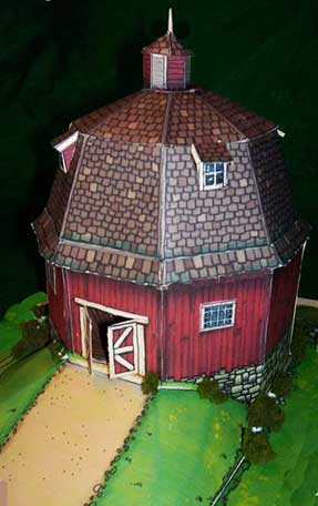 d Barn downloadable cardmodel looking from the front