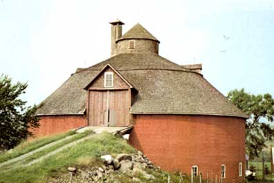 Fine Red and Round Barn