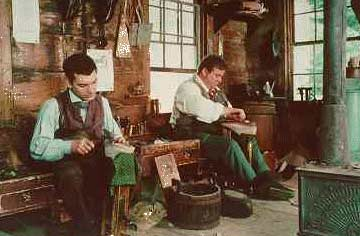 Boot makers at Old Sturbridge Boot Shop