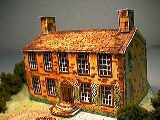 Bronte Parsonage paper model