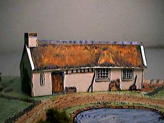 Robert Burns' Cottage paper model