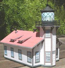 Point Cabrillo Lighthouse paper model