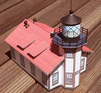 Point Cabrillo Lighthouse paper model illustration