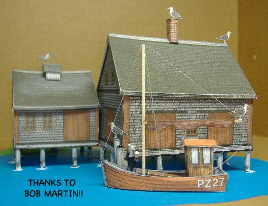 Lobster Cannery paper model