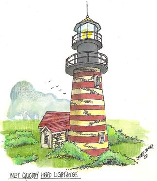 West Quoddy Lighthouse sketch