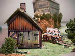 Paper Model of Cart Shed and Cart