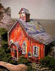 Ghost Town Church paper model