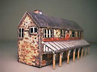 Paper model the mining townof Co-Op Store