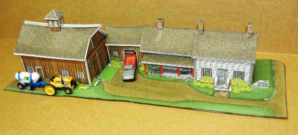 Henry Fords Birthplace Connected Farm Fiddlergreen cardmodel
