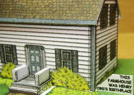 Henry Fords Birthplace Connected Farm Fiddlergreen card model