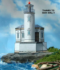 Coquille River Light House paper model