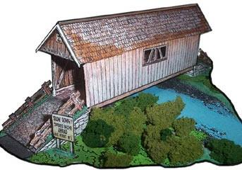 Sketch Model Covered Bridge The Covered Bridge paper model