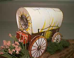 made up covered wagon-model