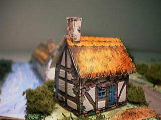 Cruck House paper model