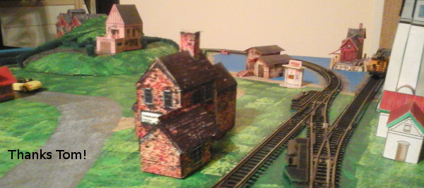 Tom Boltik's distillery in his model train layout