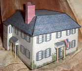 paper model of Ralph Waldo Emerson's House